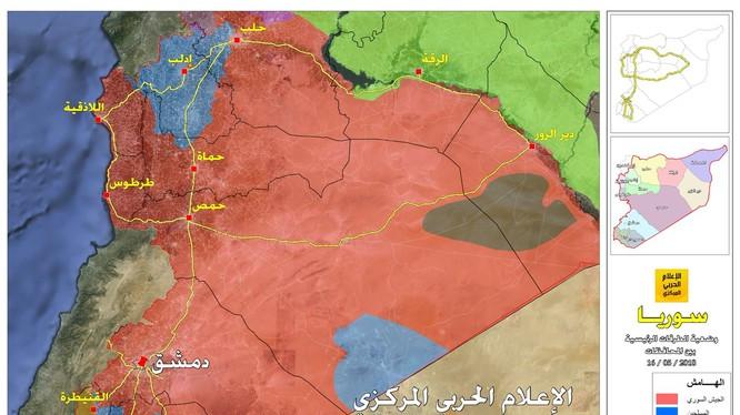 Bản đồ toàn cảnh chiến trường Syria tính đến ngày 20.05.2018 theo South Front