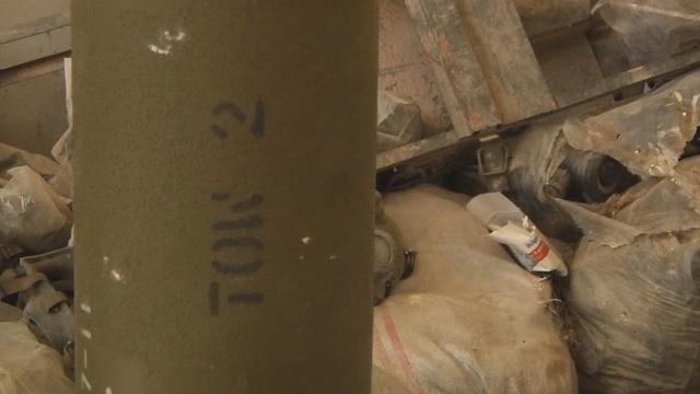 Kho tên lửa TOW-2 ở Rastan, phía bắc tình Homs. Ảnh video Ruptly
