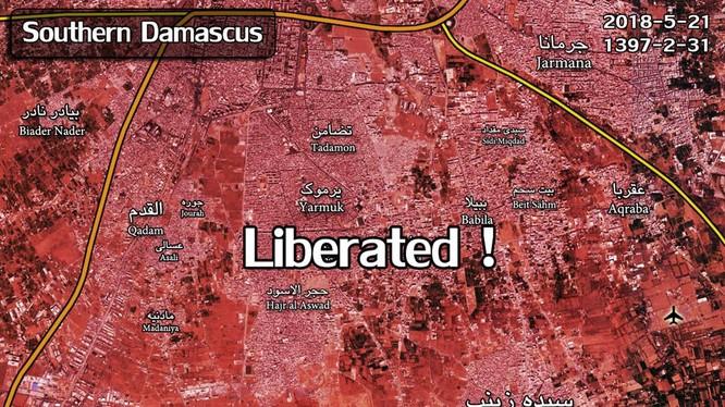 Kh vực các quận ngoại ô thành phố Da mascus hoàn toàn giải phóng