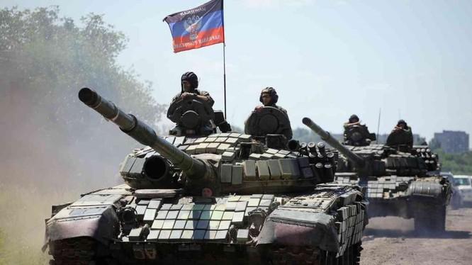 Lực lượng xe tăng dân quân Donesk/ Ảnh minh họa truyền thông Donesk