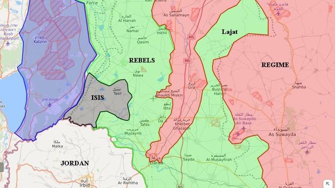 Chiến trường khu vực tỉnh Daraa. Bản đồ South Front
