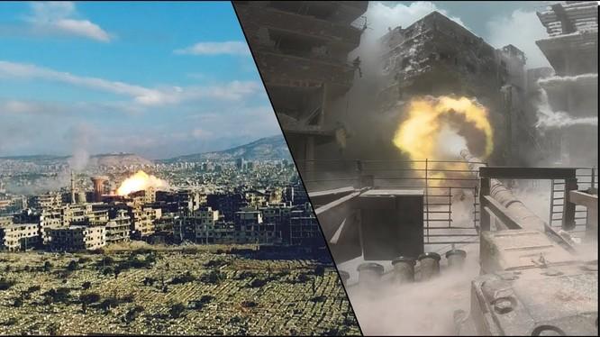 Quân đội Syria tấn công quận Trại tị nạn Yarmouk. Ảnh minh họa Masdar News