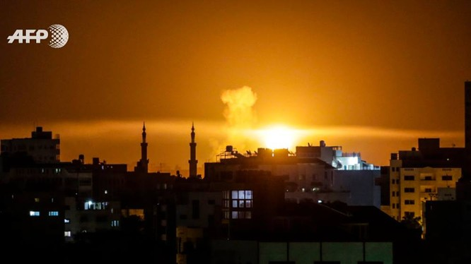 Không quân Isrel không kích Hamas trên dải Gara. Ảnh minh họa ShehabAgency