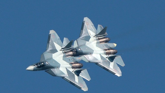 Náy bay tiêm kích tàng hình Su-57. Ảnh minh họa của RG