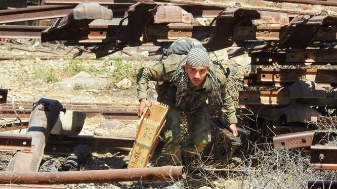 Đặc nhiệm quân đội Syria chiến đấu trên đường phố đô thị ở Syria. Ảnh minh họa Masdar News