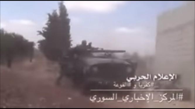 Cuộc chiến bảo vệ thị trấn người Shiite ở Idlib. Ảnh minh họa video.