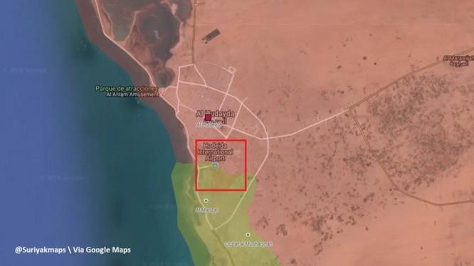 Liên minh quân sự Ả rập đánh chiếm sân bay thành phố cảng al-Hudaydah. Ảnh South Front