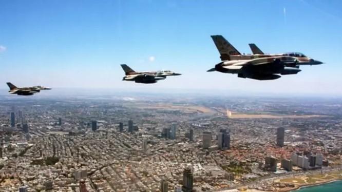 Không quân Israel trên không phận Lebanon. Ảnh minh họa Masdar News