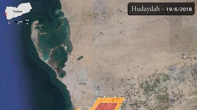 Khu vực lực lượng Liên minh quân sự Ả rập Xê út và Vệ binh Cộng hòa trung thành với tổng thống Hadi giành được quyền kiểm soát. Ảnh South Front
