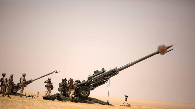 Lực lượng pháo binh Syria pháo kích ở Daraa. Ảnh minh họa South Front