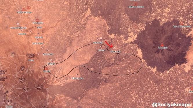 Quân đội Syria tiến công trên vùng hoang mạc Sweida. Ảnh minh họa South Front