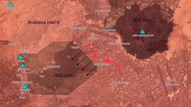 Quân đội Syria tiếp tục tấn công trên vùng hoang mạc Sweida. Ảnh minh họa South Front