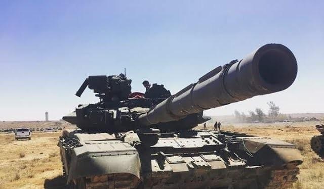 Xe tăng T-90 Nga trong lực lượng Tiger tấn công ở Daraa