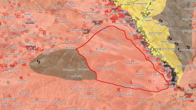 Quân đội Syria và các lực lượng đồng minh giải phóng 5800 km2 ở Deir Ezzor. Ảnh minh họa Muraselon