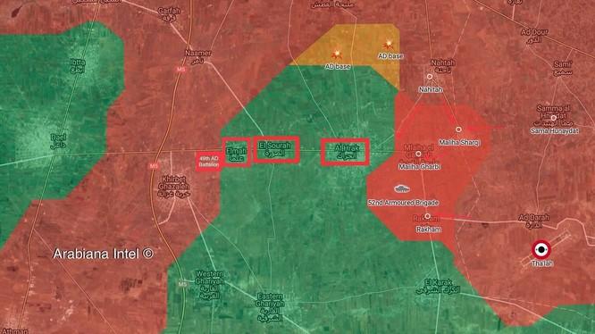 Lực lượng Tiger đánh chiếm thị trấn chiến lược al-Harak thuộc vùng nông thôn Daraa, chuẩn bị giải phóng 3 làng khác