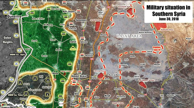 Tình hình chiến sự Syria tính đến ngày 30.06.2018 theo South Front