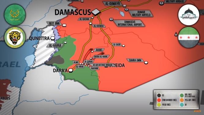 Tổng quan tình hình chiến trường Daraa ngày 29.06.2018 theo South Front