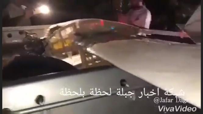 Một chiếc UAV mang vũ khí bị quân đội Syria thu giữ sau khi Nga bắn hạ