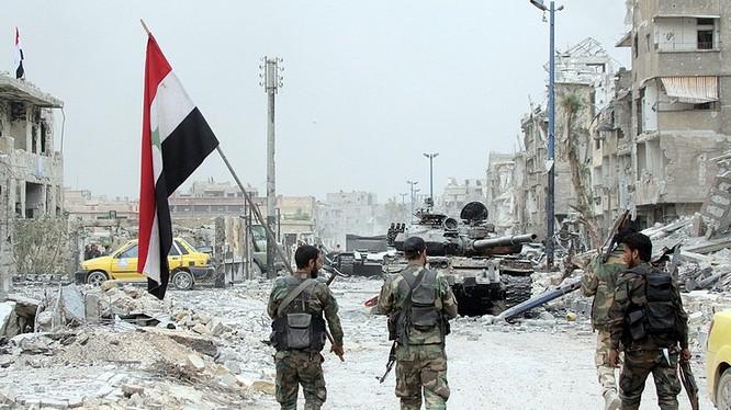 Quân đội Syria tiến vào giải phóng các thị trấn ở Daraa. Ảnh minh họa Masdar News