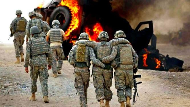 Binh sĩ quân đội Mỹ trúng bom vệ đường. Ảnh minh họa Syria.Liveuamap