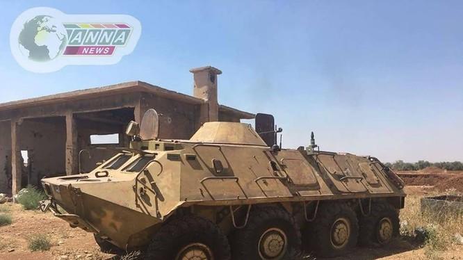 Quân đội Syria giải phóng thị trấn Saida, đông nam thành phố Daraa. Ảnh ANNA News