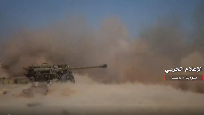 Lực lượng Tiger tấn công trên chiến trường Daraa.Ảnh video quân đội Syria