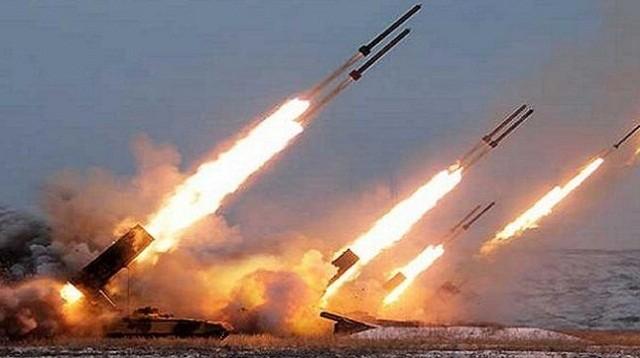 Pháo phản lực Syria khai hỏa. Anh minh họa Masdar News