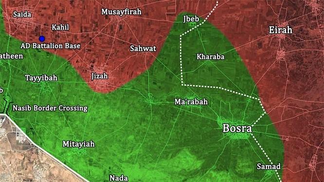Quân đội Syria giải phóng thị trấn Saida, tiến công về cửa khẩu Nassib, ảnh minh họa Masdar News