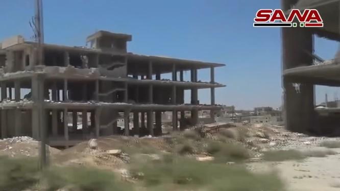 Khu vực ngã tư biên giới chiến lược Nassib. Ảnh video