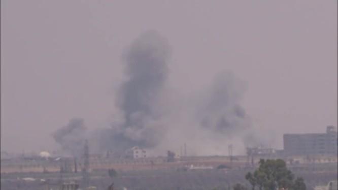 Quân đội Syria tiến công giải phóng thị trấn Saida. Ảnh minh họa video