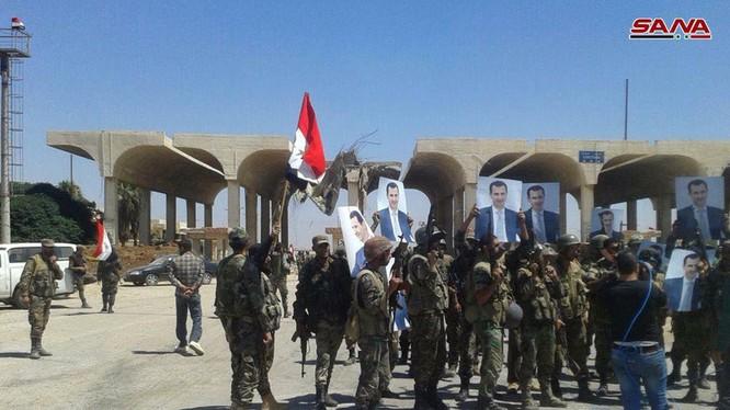 Quân đội Syria trên Ngã tư biên giới Nassib. Ảnh minh họa South Front