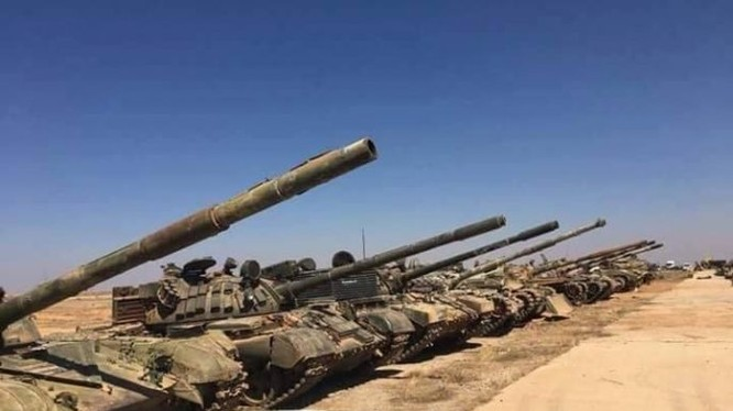 Xe tăng được quân đội Syria thu giữ sau chiến thắng ở Daraa