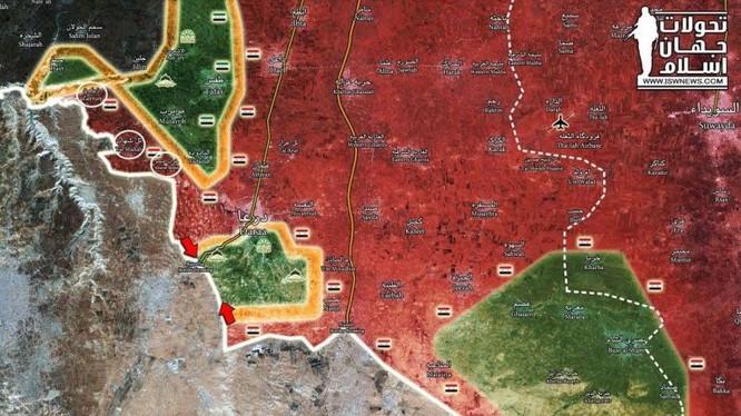 Bản đồ chiến sự tỉnh Daraa ngày 09.07.2018 theo South Front
