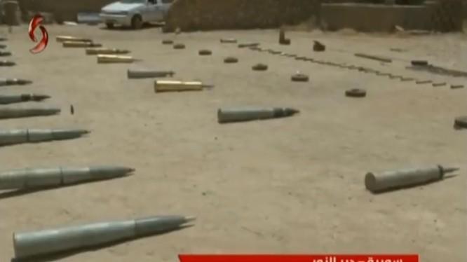 Vũ khí, trang vị và đạn dược của IS ở DeirEzzor