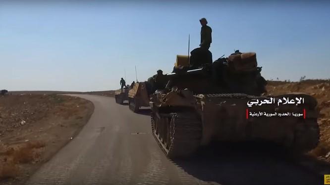 Quân đội Syria tiến công dọc theo tuyến đường tuần tra biên giới với Jordan