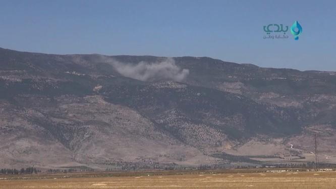 Không quân Nga không kích ở Latakia. Ảnh minh họa video