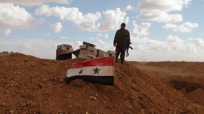 Quân đội Syria trên chiến trường Daraa. Ảnh minh họa Masdar News