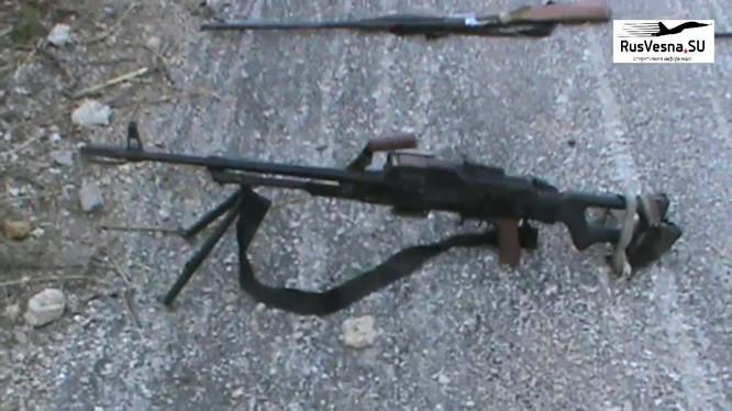 Kho vũ khí lực lượng Hồi giáo cực đoan ở Hama, ảnh video Rusvessna