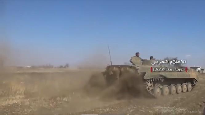 Quân đội Syria trên chiến trường Qunetra, ảnh minh họa video