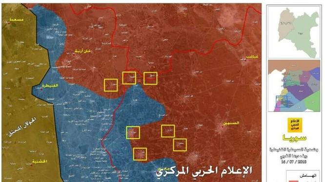 Lực lượng Tiger giải phóng tam giác tử thần trên chiến trường Daraa. Ảnh Hezbollah