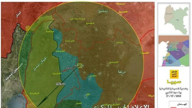 Sư đoàn Tiger giải phóng thị trấn Harra và cao điểm chiến lược cùng tên. Bản đồ truyên fthông Hezbollah