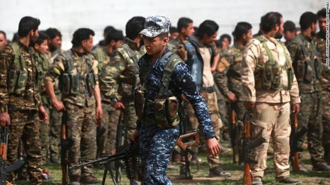 Lực lượng SDF ở Syria, ảnh minh họa CNN
