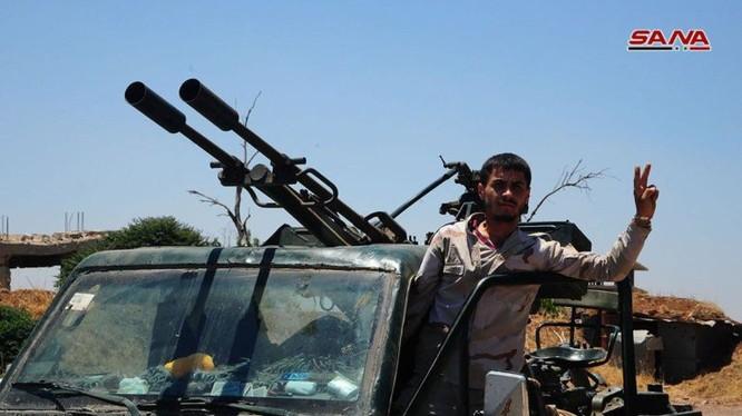 Binh sĩ quân đội Syria trên chiến trường Daraa. Ảnh minh họa South Front