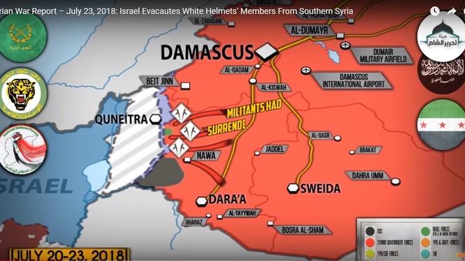Tổng quan tình hình chiến sự Syria ngày 23.07.2018 theo South Front.