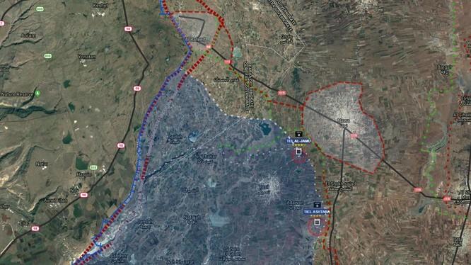 Quân đội Syria tấn công vào khu vực IS chiếm đóng. Bản đồ Muraselon
