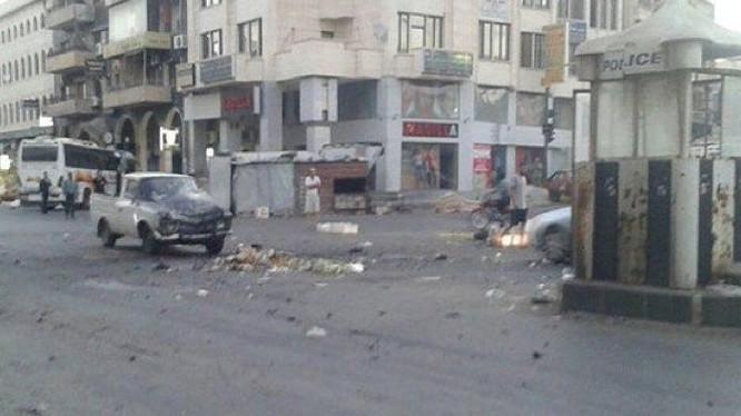 Hiện trường vụ đánh bom khủng bố ở Sweida, ảnh truyền thông địa phương Sweida