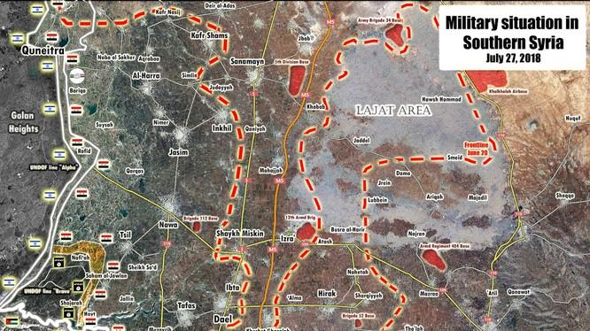 Quân đội Syria tiến công IS trong lưu vực Yarmouk thuộc tỉnh Daraa