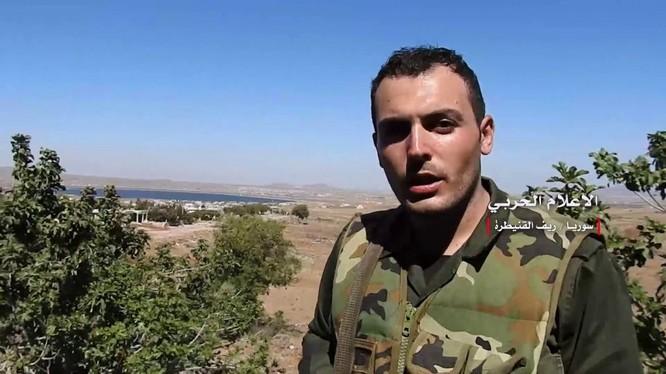Quân đội Syria giải phóng thị trấn Al-Qahtaniyah. Ảnh minh họa video.