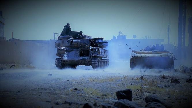 Các đơn vị sư đoàn Tiger tiến công trên vùng thung lũng Yarmouk. Ảnh minh họa Masdar News