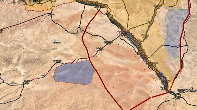 Tình hình phân chia lực lượng hai bên dòng sông Euphates thuộc tỉnh Deir Ezzor. Bản đồ South Front